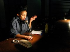 Jennifer Muteteli in A Place at the Table at Amnesty International, London. Photo Harriet Stewart