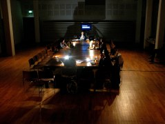 A Place at the Table at Amnesty International, London. Photo Harriet Stewart