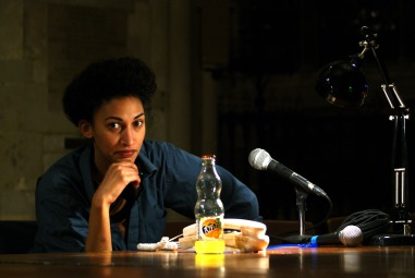 Jennifer Muteteli in A Place at the Table at Southwark Cathedral, London. Photo Jethro Compton