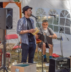 Paul Burgess and Andy Bannister in Mobile Incitemement, Latitude Festival