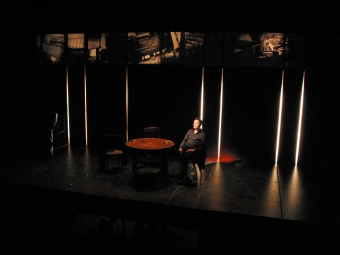 Flush by David Dipper at Soho Theatre, directed by Bijan Sheibani. In this photo: Burn Gorman