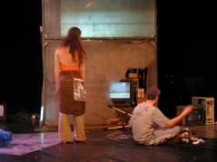 Sarah Richardson and Ben Ridge in Out of Nothing at Cambridge Junction