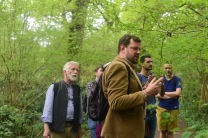 Dan Cox leading a pilot for our woodland walk project