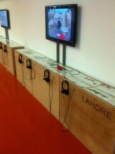 SLICE: Lahore-London - installation view, Whitechapel Ideas Store
