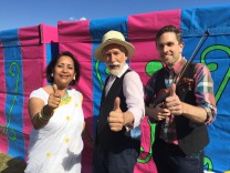 Shamim Azad, Sef Townsend and Paul Burgess performing as East at Great Day Out, Victoria Park