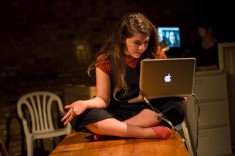 Scenes from 68 Years by Hannah Khalil at Arcola, directed by Chris White. In this photo: Taghrid Choucair-Vizoso. Photo by Ellie Kurtz