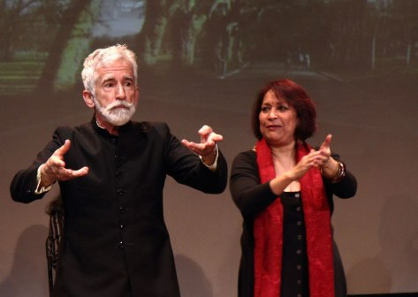 Sef Townsend and Shamim Azad performing as part of East at Rich Mix as part of A Season of Bangla Drama. Photo Simon Daw