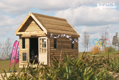 The Poetry Potting Shed for SPOKE in Queen Elizabeth Olympic Park