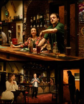 Deafinitey Theatre's production of Two at Southwark Playhouse, co-designed by Simon Daw